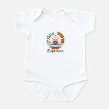 Tajikistani Coat of Arms Seal Infant Bodysuit