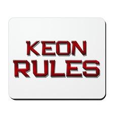 keon rules Mousepad