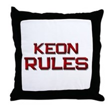 keon rules Throw Pillow