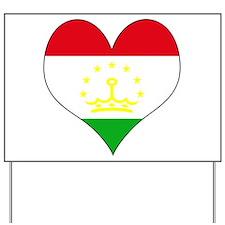 I Love Tajikistan Yard Sign