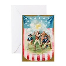 """Spirit Of 76"" Greeting Card"
