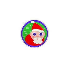 Santa Cartoon Mini Button
