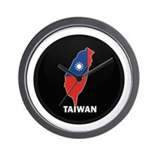 Flag Map of taiwan Wall Clock
