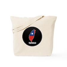 Flag Map of taiwan Tote Bag