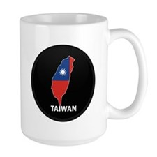Flag Map of taiwan Mug