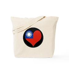 I love taiwan Flag Tote Bag