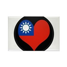 I love taiwan Flag Rectangle Magnet
