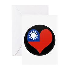 I love taiwan Flag Greeting Card