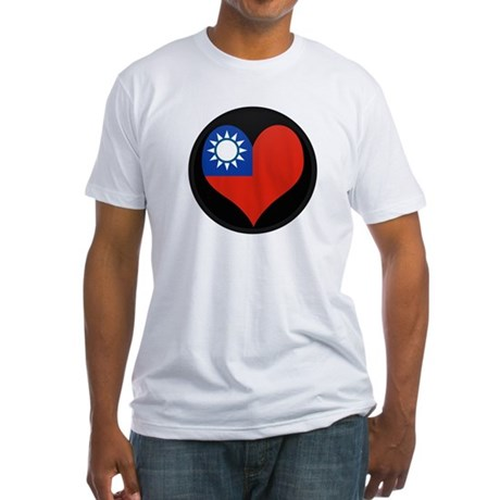 I love taiwan Flag Fitted T-Shirt