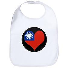I love taiwan Flag Bib