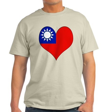 I Love taiwan Light T-Shirt