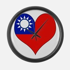 I Love taiwan Large Wall Clock