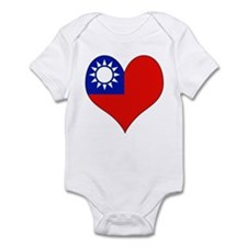 I Love taiwan Infant Bodysuit