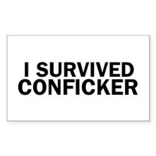 I Survived Conficker Rectangle Decal
