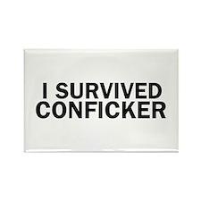 I Survived Conficker Rectangle Magnet