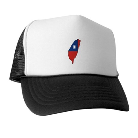 taiwan Flag Map Trucker Hat