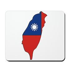 taiwan Flag Map Mousepad