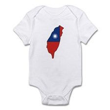 taiwan Flag Map Infant Bodysuit