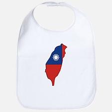 taiwan Flag Map Bib
