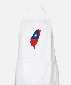 taiwan Flag Map BBQ Apron