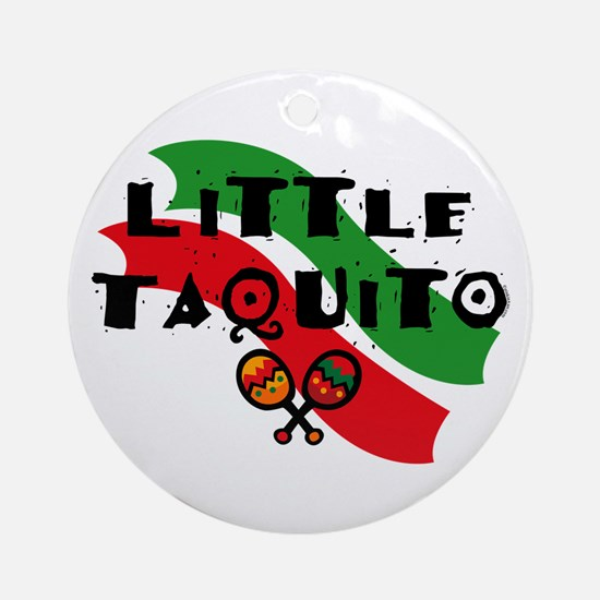 Little Taquito Ornament (Round)
