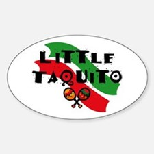 Little Taquito Oval Decal