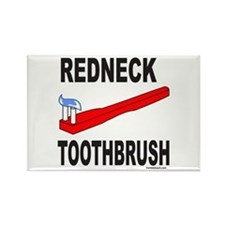 REDNECK TOOTHBRUSH Rectangle Magnet