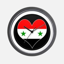 I love Syria Flag Wall Clock