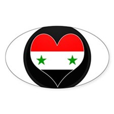 I love Syria Flag Oval Decal