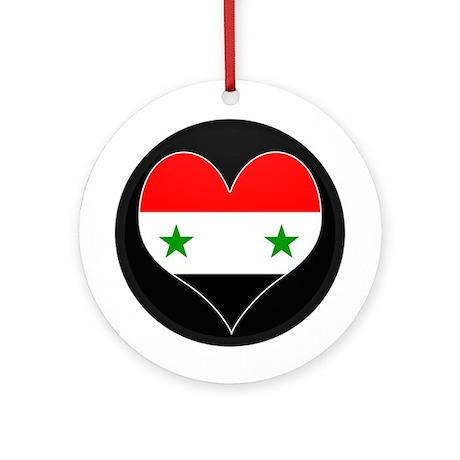 I love Syria Flag Ornament (Round)