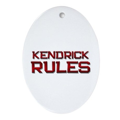 kendrick rules Oval Ornament