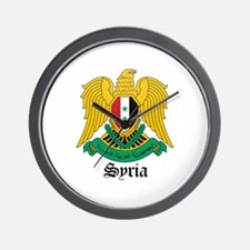 Syrian Coat of Arms Seal Wall Clock