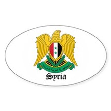 Syrian Coat of Arms Seal Oval Decal