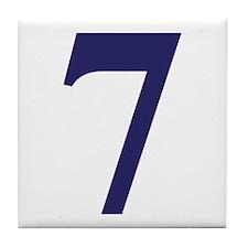 Number seven Tile Coaster