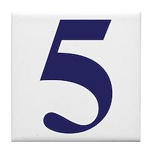 Number five Tile Coaster