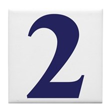 Number two Tile Coaster