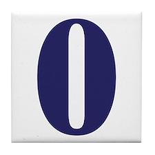 Number zero Tile Coaster