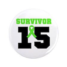 "Lymphoma Survivor 15 Year 3.5"" Button (100 pack)"