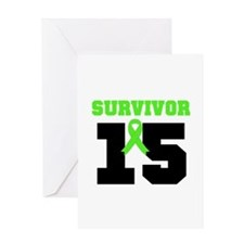 Lymphoma Survivor 15 Year Greeting Card