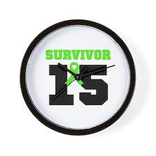 Lymphoma Survivor 15 Year Wall Clock
