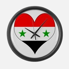 I Love Syria Large Wall Clock
