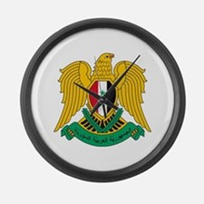Syria Coat of Arms Large Wall Clock