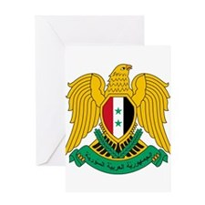 Syria Coat of Arms Greeting Card