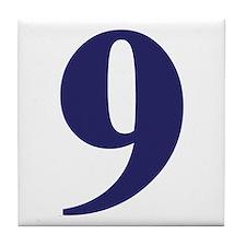 Number nine Tile Coaster