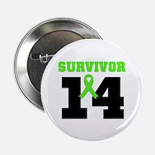 "Lymphoma Survivor 14 Year 2.25"" Button (10 pack)"