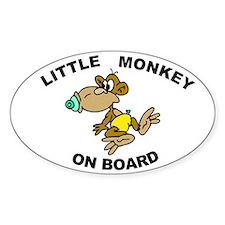 Little Monkey on Board Oval Decal