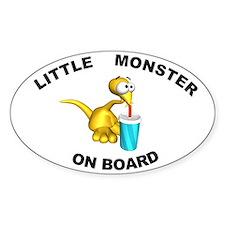 Little Monster on Board Oval Stickers