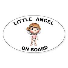 Little Angel on Board Oval Stickers