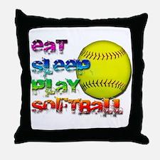 Eat sleep soft 2 Throw Pillow