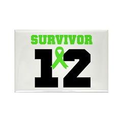 Lymphoma Survivor 12 Year Rectangle Magnet (10 pac